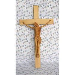 Cruce sculptata in lemn de tei
