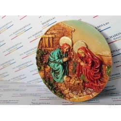 Medalion Sfanta Familie colorata