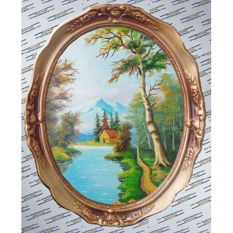 Peisaj de vara pictat