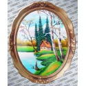 Cabana de pe mal tablou oval