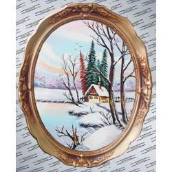 Cabana de pe mal iarna